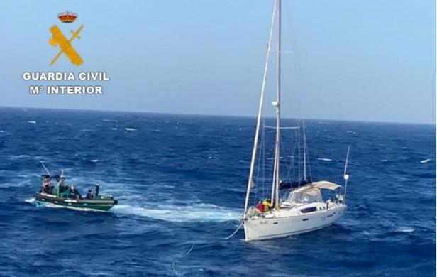 Interceptación de un velero en alta mar