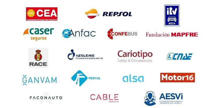 Logos de Empresas adheridas a la Alianza por la Seguridad Vial (1 de 3)