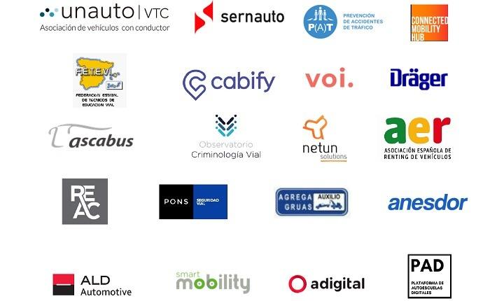 Logos de Empresas adheridas a la Alianza por la Seguridad Vial (2 de 3)