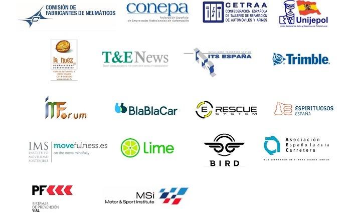 Logos de Empresas adheridas a la Alianza por la Seguridad Vial (3 de 3)