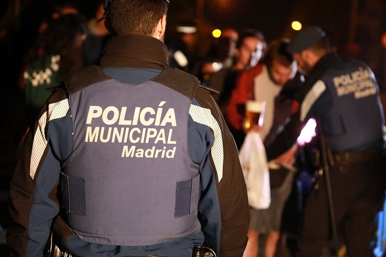 Policía Municipal de Madrid en labores de Control de accesos