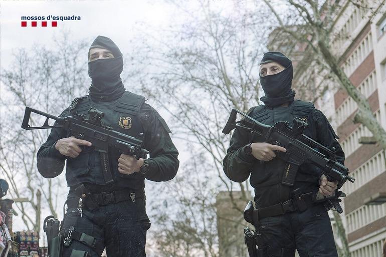 Patrulla en labores antiterroristas_La BRIMO de los Mossos d´Esquadra