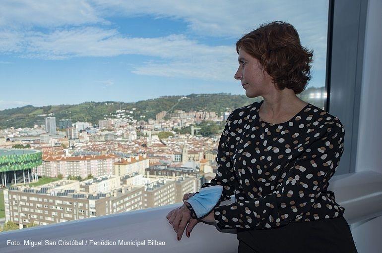 Amaia Arregi Romarate en las instalaciones de la Policía Municipal de Bilbao